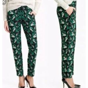 J Crew Tuxedo Work Pants Floral Stripe Pull On 2